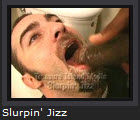 Slurping The Jizz Cum